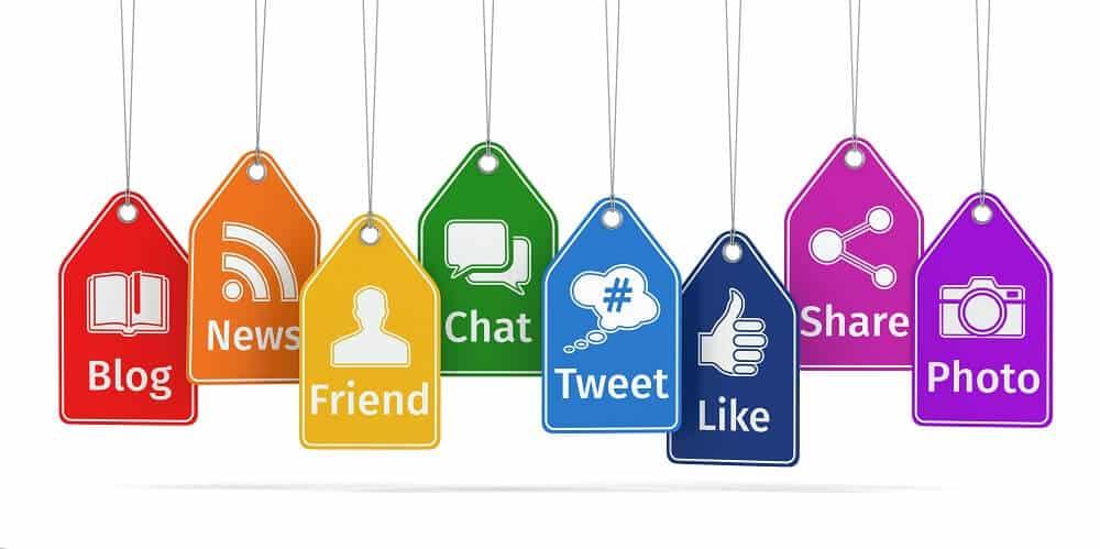 social media management icons