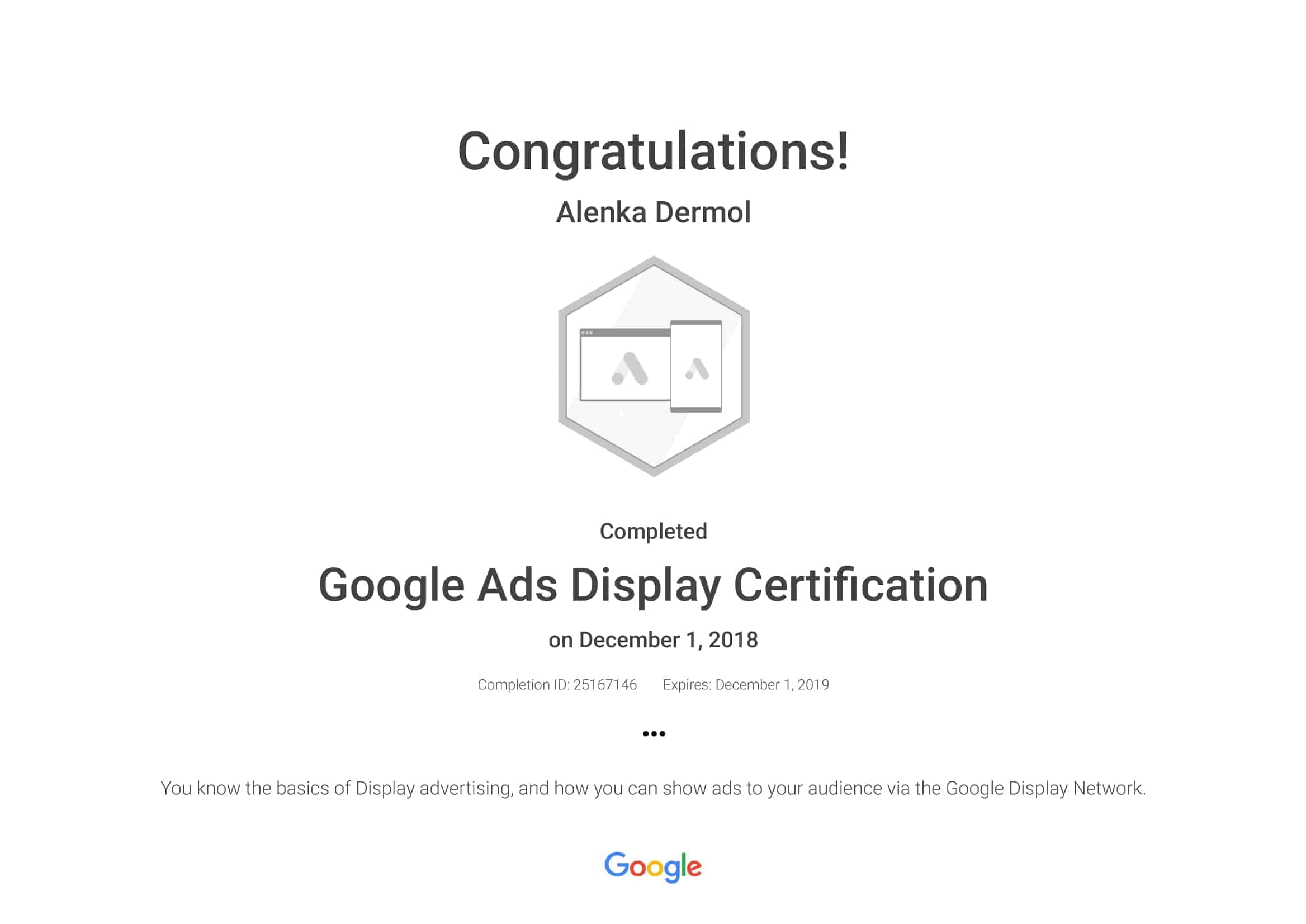 Google-Ads-Display-Certification-Alenka-Dermol
