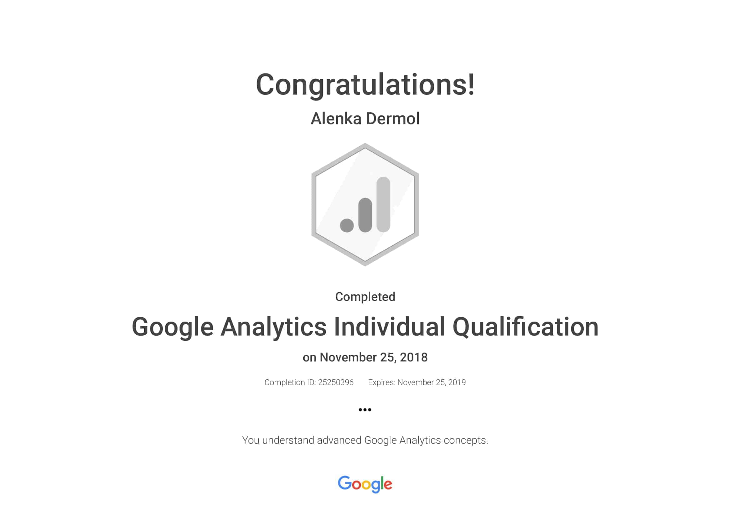 Google-Analytics-Individual-Qualification-Alenka-Dermol
